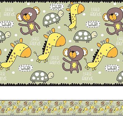 Adesivo de Parede Faixa Decorativa Infantil Safari 10m x 10cm