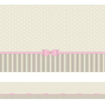 Adesivo de Parede Faixa Decorativa Infantil Laço 10m x 10cm