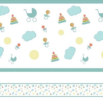 Adesivo de Parede Faixa Decorativa Infantil Baby 10m x 10cm