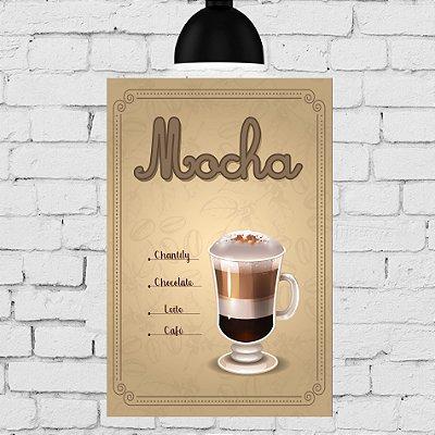 Placa Decorativa MDF Tipos de Café Mocha