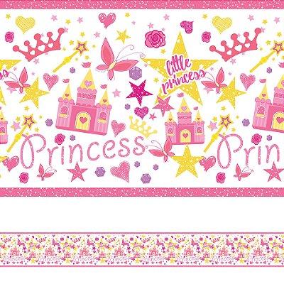 Adesivo de Parede Faixa Decorativa Infantil Princesa 6m x 15cm
