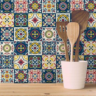 Adesivo de Azulejo Granada 10x10 cm com 100 un