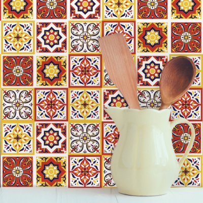 Adesivo de Azulejo Rubro 15x15 cm com 36 un