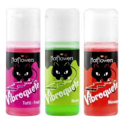 VIBROQUETE GEL BEIJÁVEL COM EFEITO VIBRA 12 ML – HOT FLOWERS
