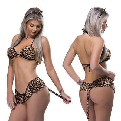 Fantasia Tigresa Sexy Feminina Desejos Sexy Fantasy
