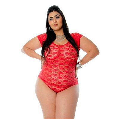 Body Plus Size Sexy Feminina Em Renda Princess Sapeka Lingerie