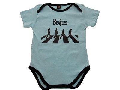 Body Manga Curta The Beatles (Azul) - Baby Bros