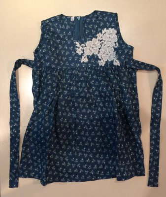 Vestido Azul Bordado Infantil