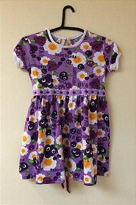 Vestido Malha Estampa Jabuticaba Infantil