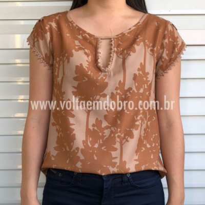 Blusa Estampa Barrado Mushrooms Bunny