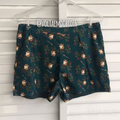 Shorts Estampa Raposa