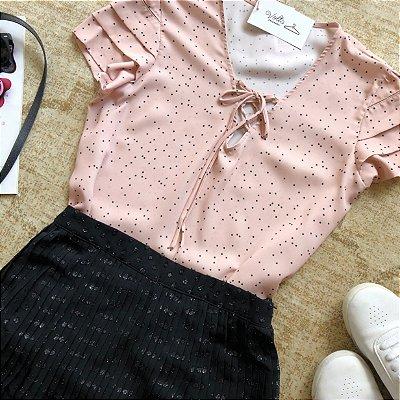 Blusa Mini Poa Laço