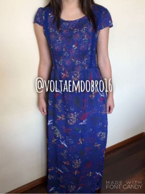 Vestido Longo Mini Flowers