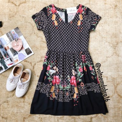 Vestido Garças e Flores