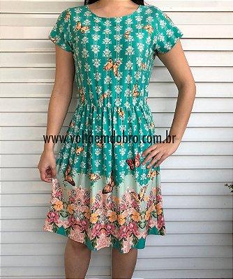 Vestido Flores e Borboletas
