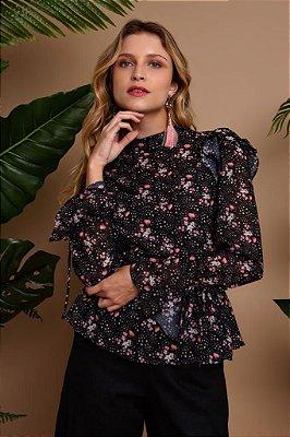 Blusa Estampa Flores