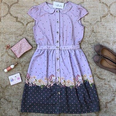 Vestido Barrado Poneis Florais
