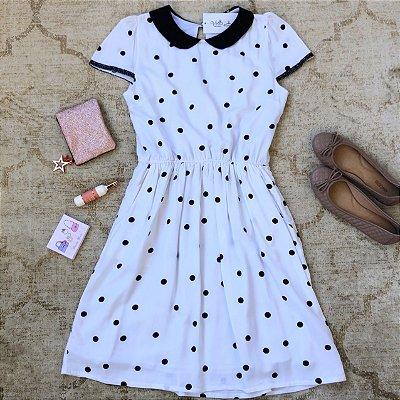 Vestido Pois Branco