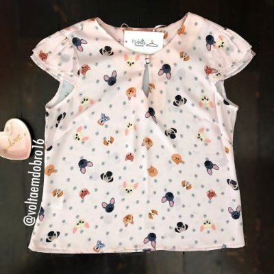 Blusa Catioros Mini Face