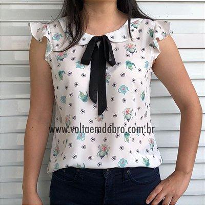 Blusa Bules e Flores