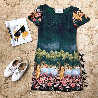Vestido Plus Size Anoitecer na Floresta