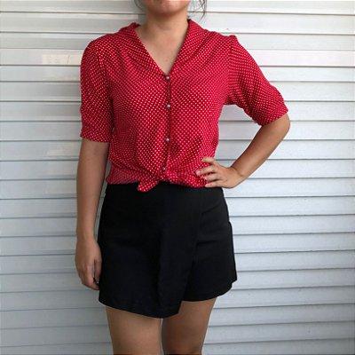 Blusa Pois Vermelha