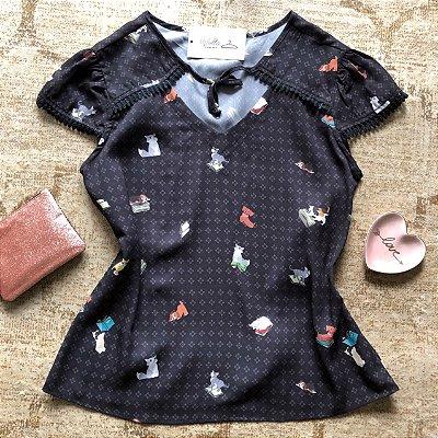 Blusa Plus Size Estampa Bichinho