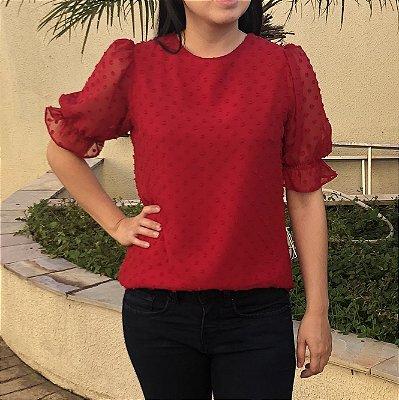 Blusa Plus Size Pipoca Vermelha