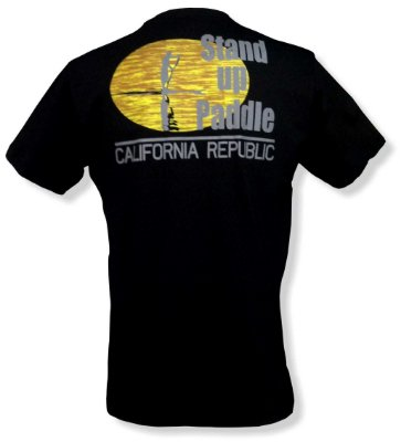 Camiseta Stand up Paddle - Preta