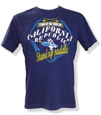 Camiseta Estonada Stand up paddle - Azul