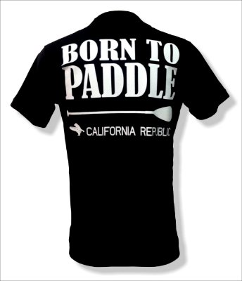 Camiseta Born to paddle - Preta
