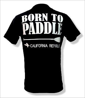 Camiseta Born to paddle - Preta