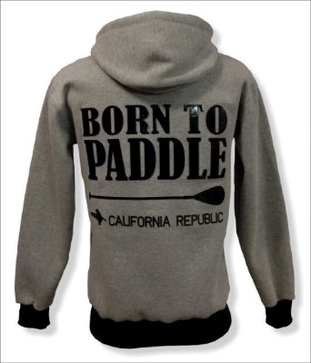 Moletom Canguru - Born to Paddle - California Republic