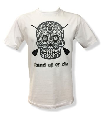 Camiseta Stand up or die - California Republic (branca)