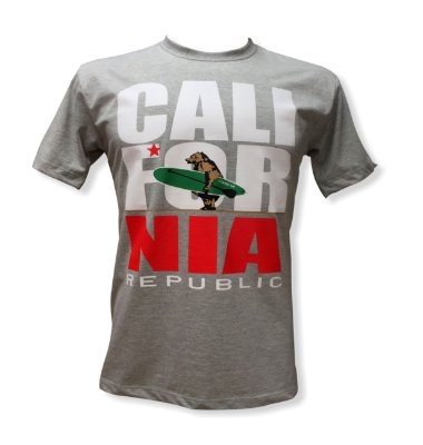 Camiseta CALIFORNIA REPUBLIC ( mescla )
