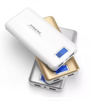 Carregador Portátil de Celular Tablet Power Bank Pineng 20000 Mah Usb Celular