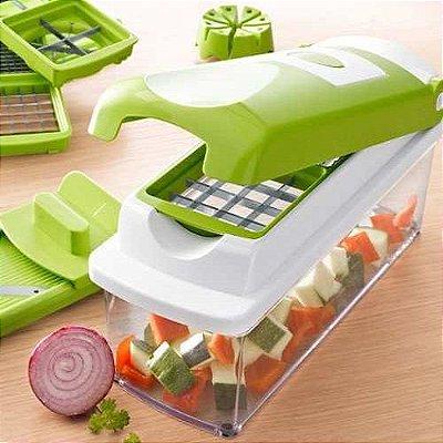 Cortador Ralador Fatiador E Picador Manual De Legumes Verduras Frutas MultiUso (SIMILAR do Nicer Dicer Plus Cortador Fatiador Legumes Verduras Frutas)