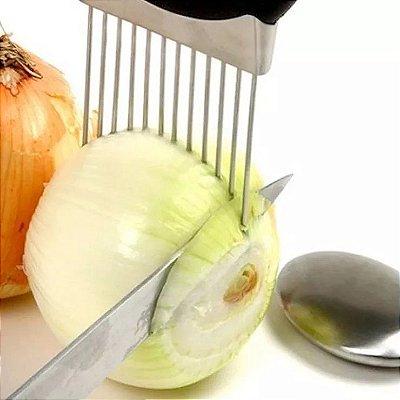 Garfo Suporte Manual Fatiador Cortador Para Cortar Cebola Tomate
