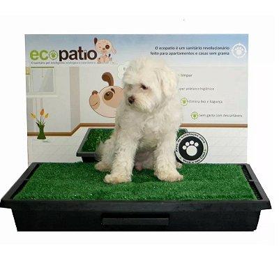 Tapete Higiênico Para Cachorro Pipi Dog Com Grama Sintética - Sanitário Para Cães Modelo COM GAVETA