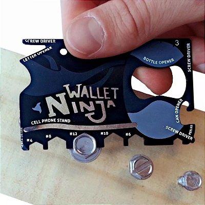 Cartão Multi-Ferramentas Para Carteira 18 Em 1 Ninja Wallet