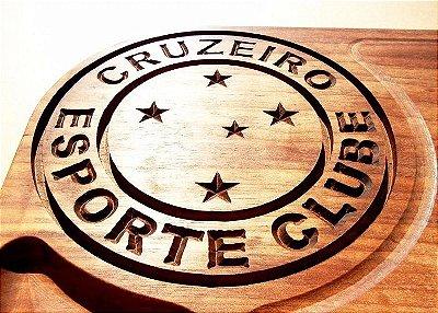 Tabua De Carne PERSONALIZADA Time CRUZEIRO De Madeira Para Churrasco Corte Cozinha