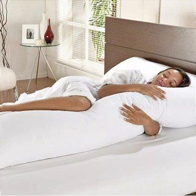 Travesseiro Grande de Corpo 0,50x1,40m Com Fronha Percal Fibra Siliconada  - O Melhor Travesseiro