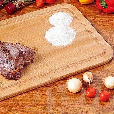 Tabua de Carne Corte Grande de Madeira Tipo Bambu 50x30