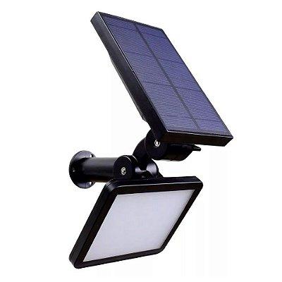 Luminária Externa Lampada Solar De Parede Jardim 960 Lumens 48 Led Fotovoltaica