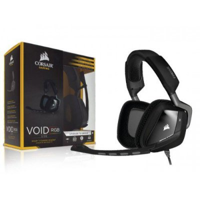 Headset Corsair Gaming Void RGB Dolby 7.1 USB Preto CA-9011130-NA