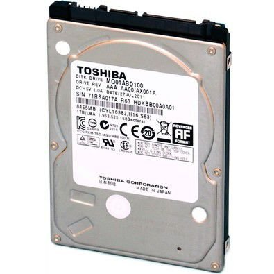 HD Toshiba Note SATA 1TB 8MB 5400RPM MQ01ABD Series 3Gb/s