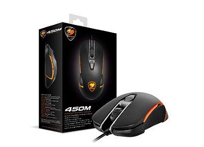 Mouse Gamer Cougar 450M, 5000dpi, USB, 8 Botões, 30G, Ambidestro, Preto e Laranja - 3M450WOB