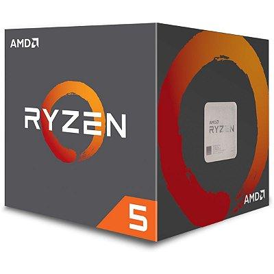 Processador AMD Ryzen 5 1600 c/ Wraith Spire, Six Core, Cache 19MB, 3.2GHz (Max Turbo 3.6GHz) AM4 - YD1600BBAEBOX