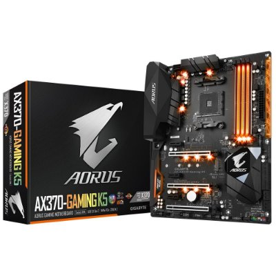 Placa-Mãe GIGABYTE AMD AM4 ATX AORUS GA-AX370-GAMING K5 DDR4