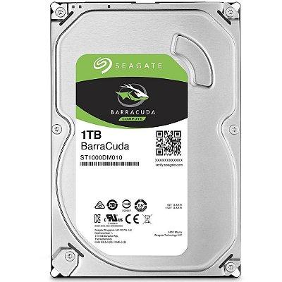 HD Seagate SATA 3,5´ BarraCuda 1TB 7200RPM 64MB Cache SATA 6Gb/s - ST1000DM010